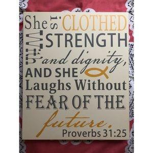 Proverbs 31:25 Wall Art